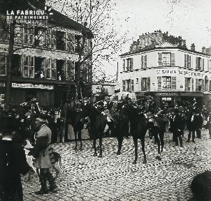 La fanfare à cheval pendant le défilé
