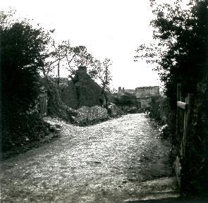 B021 La Hague chemin de terre menant à une maison