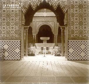 B027 Maroc interieur d'un palais2