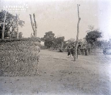 B038 Afrique 3 femmes village de brousse
