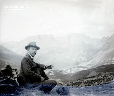 B067 Alfred Anceau dans les Alpes