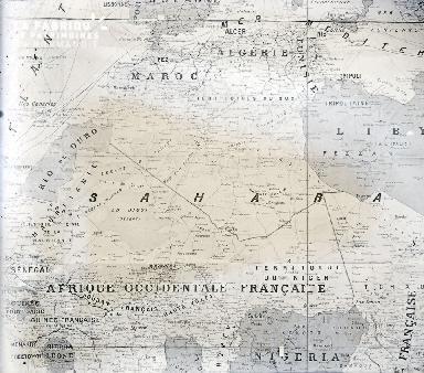 B069 Carte de l'Afrique occidentale française