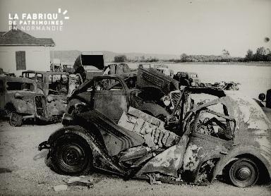 Caudebec, automobiles incendiées