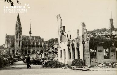 Caudebec, église en ruines