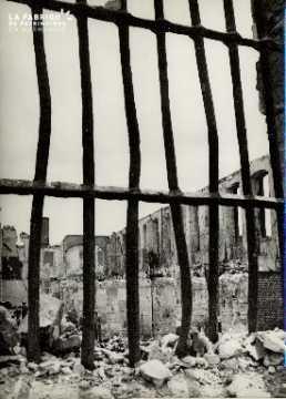 Rouen, intérieur de l'Ecole des Beaux-arts en ruines