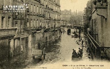 Caen, crue de l'Orne - 1er Décembre 1910