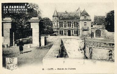 Caen, entrée du château