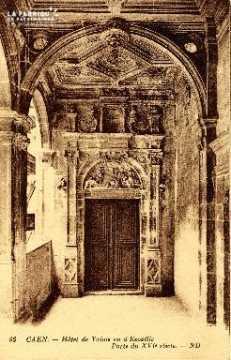 Caen, Hôtel de Valois ou d'Ecoville (porte du XVIè siècle)