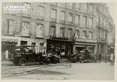 Caen, incendie le 24 octobre 1939