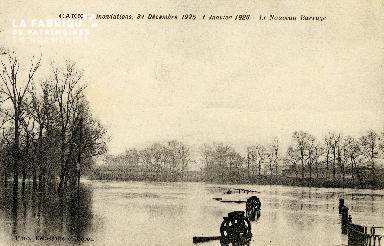 Caen, inondations, 31 décembre 1925 - 1er janvier 1926. Le nouveau bar