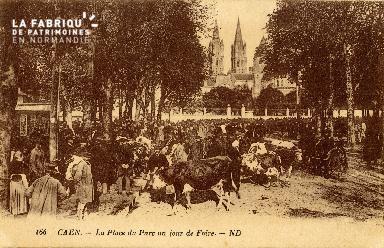 Caen, la place du Parc un jour de Foire