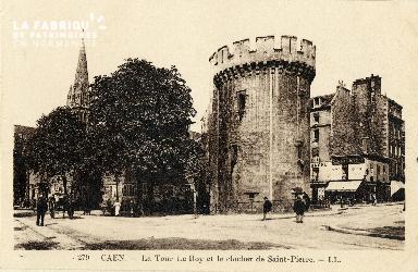 Caen, la tour Le Roy et le clocher de Saint-Pierre