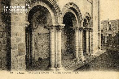 Caen, le vieux Saint-Nicolas (arcades romaines)