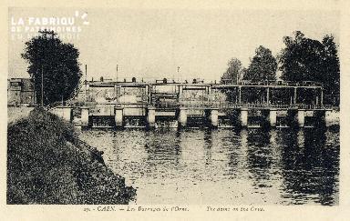 Caen, les barrages de l'Orne