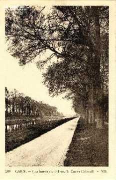 Caen, les bords de l'Orne, le cours Caffarelli 01