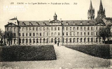 Caen, lycée Malherbe (façade sur le parc)