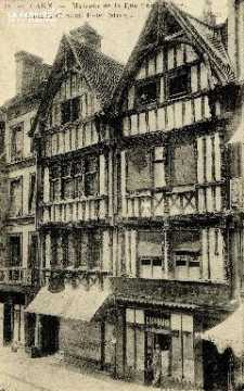 Caen, maisons de la rue Saint-Pierre