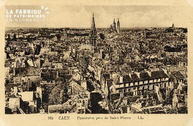 Caen, panorama pris de Saint-Pierre