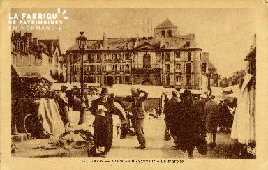 Caen, place Saint-Sauveur, le marché