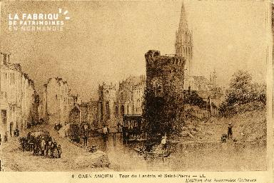 Caen, Tour du Landais et Saint-Pierre