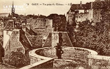 Caen, vue prise du château