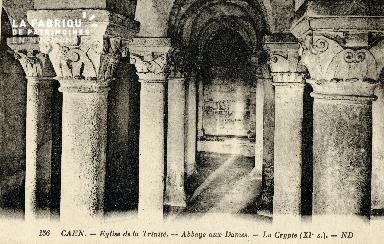 Caen, église de la Trinité (crypte)