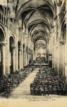 Caen, église de la Trinité (la nef)