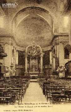 Caen, église Notre-Dame ou la Gloriette, la choeur et l'autel
