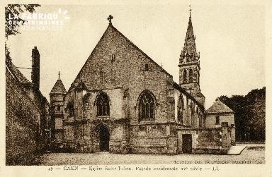 Caen, église saint-Julien (façade occidentale du XVè siècle)