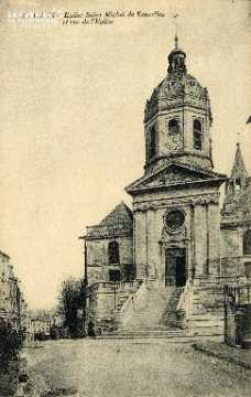Caen, église Saint-Michel de Vaucelles et rue de l'Eglise