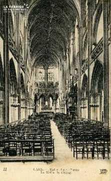 Caen, église Saint-Pierre (la nef et le choeur)