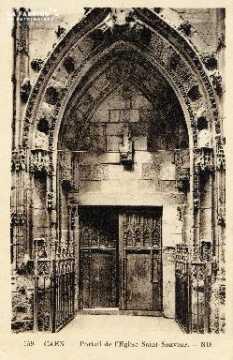 Caen, église Saint-Sauveur (portail)