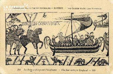 Tapisserie de Bayeux - La flotte se dirige sur l'Angleterre