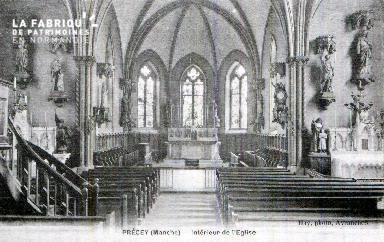 Precey E Intérieur de l'église