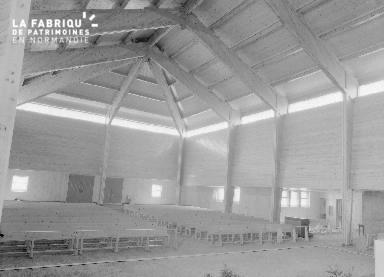B009 Donville, église Notre-Dame-de-Lourdes 1960