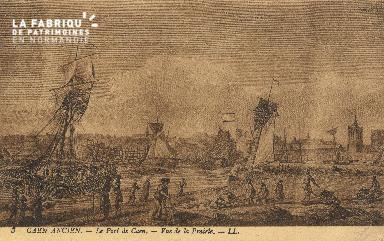 cl 01 008 Caen le port de Caen-Vue de la prairie