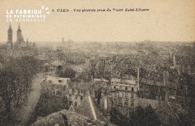 cl 01 031 Caen vue générale prise du vieux St-Etienne