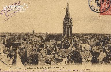 cl 01 032 Caen vue prise du château sur St-Pierre