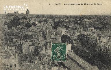 cl 01 033 Caen vue générale prise du clocher de St-Pierre