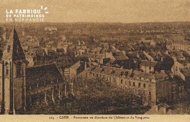 cl 01 034 Caen vue en direction du château et du Vaugueux