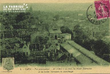 cl 01 035 Caen- au milieu et au fond, les hauts fourneauxde la socièté