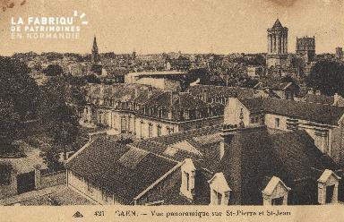 cl 01 036 Caen- vue sur St-pierre et St-Jean