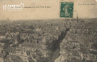 cl 01 039 Caen panorama prise de la rue St-Jean