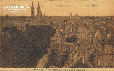cl 01 045 Caen vue générale du vieux St-Etienne