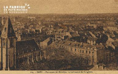 cl 01 051 Caen- panorama en direction du château et du vaugueux