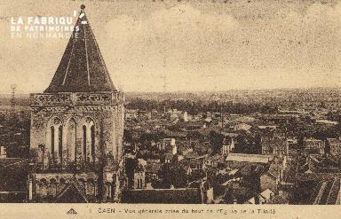 cl 01 053 Caen-vue générale prie du haut de l'église de la trinité