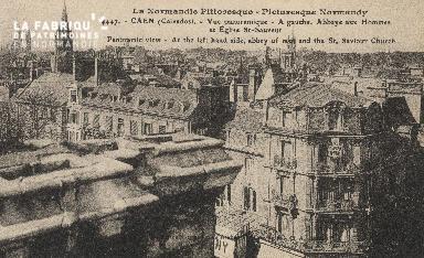 cl 01 057 Caen 1447  La normandie pittoresque a gauche Abbaye aux dame