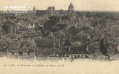 cl 01 058 Caen panorama vers l'abbaye aux dames
