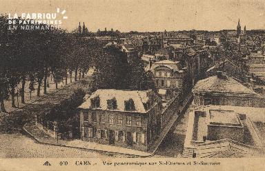 cl 01 059 Caen-vue panoramique sur St-etienne et St sauveur