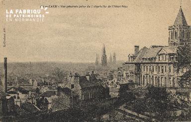 cl 01 063 Caen-vue générale prise du labyrinthe de l'hotel-dieu